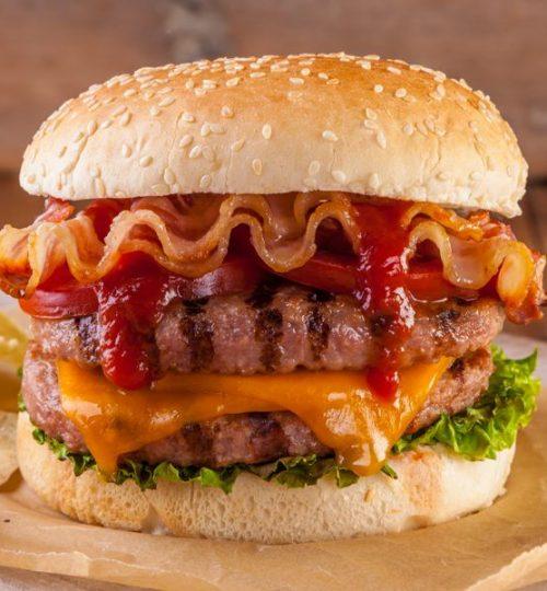 6 burger bacon dbl
